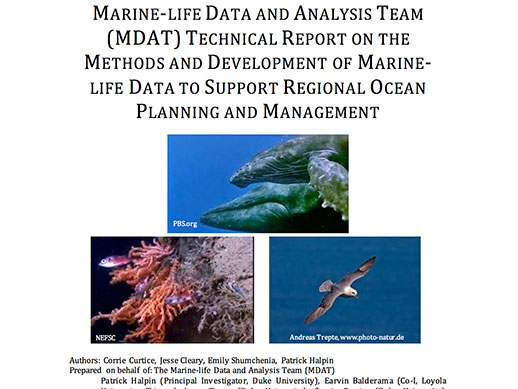 MARINE-LIFE DATA AND ANALYSIS TEAM (MDAT) MARINE-LIFE DATA TO SUPPORT REGIONAL OCEAN PLANNING AND MANAGEMENT